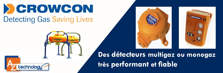 Tous les produits Crowcon en Tunisie : Détecteurs de gaz en Tunisie chez AZ Technology