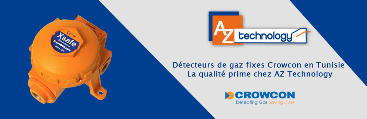 Détecteurs de gaz fixes Crowcon en Tunisie
